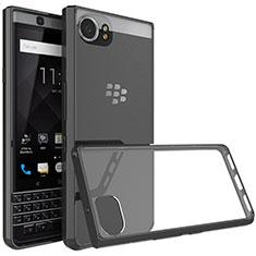 Silikon Hülle Handyhülle Rahmen Schutzhülle Durchsichtig Transparent für Blackberry KEYone Schwarz