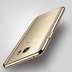 Silikon Hülle Handyhülle Rahmen Schutzhülle Durchsichtig Transparent für Samsung Galaxy Note 5 N9200 N920 N920F Gold