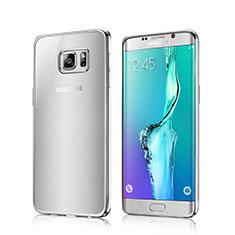 Silikon Hülle Handyhülle Rahmen Schutzhülle Durchsichtig Transparent für Samsung Galaxy S6 Edge SM-G925 Silber