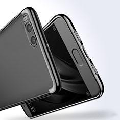 Silikon Hülle Handyhülle Rahmen Schutzhülle Durchsichtig Transparent für Xiaomi Mi Note 3 Schwarz