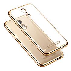 Silikon Hülle Handyhülle Rahmen Schutzhülle Durchsichtig Transparent für Xiaomi Redmi Note 3 MediaTek Gold