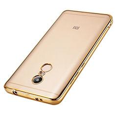 Silikon Hülle Handyhülle Rahmen Schutzhülle Durchsichtig Transparent für Xiaomi Redmi Note 4X Gold