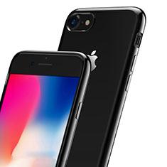Silikon Hülle Handyhülle Rahmen Schutzhülle Durchsichtig Transparent Matt für Apple iPhone 7 Schwarz