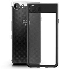 Silikon Hülle Handyhülle Rahmen Schutzhülle Durchsichtig Transparent Matt für Blackberry KEYone Schwarz