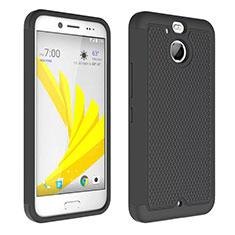 Silikon Hülle Handyhülle Rahmen Schutzhülle Durchsichtig Transparent Matt für HTC Bolt Schwarz