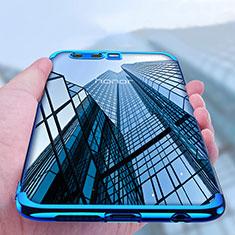 Silikon Hülle Handyhülle Rahmen Schutzhülle Durchsichtig Transparent Matt für Huawei Honor 9 Blau