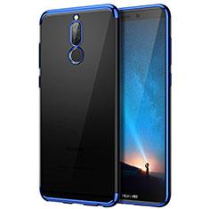 Silikon Hülle Handyhülle Rahmen Schutzhülle Durchsichtig Transparent Matt für Huawei Mate 10 Lite Blau