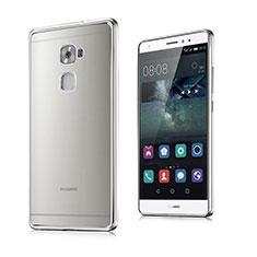 Silikon Hülle Handyhülle Rahmen Schutzhülle Durchsichtig Transparent Matt für Huawei Mate S Silber