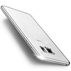 Silikon Hülle Handyhülle Rahmen Schutzhülle Durchsichtig Transparent Matt für Samsung Galaxy Note 7 Silber