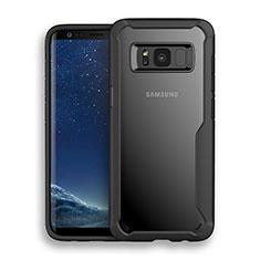 Silikon Hülle Handyhülle Rahmen Schutzhülle Durchsichtig Transparent Matt für Samsung Galaxy S8 Schwarz