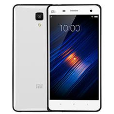 Silikon Hülle Handyhülle Rahmen Schutzhülle Durchsichtig Transparent Matt für Xiaomi Mi 4 Schwarz