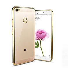 Silikon Hülle Handyhülle Rahmen Schutzhülle Durchsichtig Transparent Matt für Xiaomi Mi Max Gold