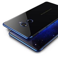 Silikon Hülle Handyhülle Rahmen Schutzhülle Durchsichtig Transparent Matt für Xiaomi Mi Mix 2 Blau