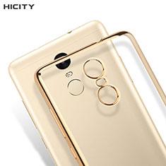 Silikon Hülle Handyhülle Rahmen Schutzhülle Durchsichtig Transparent Matt für Xiaomi Redmi Note 3 MediaTek Gold