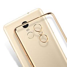 Silikon Hülle Handyhülle Rahmen Schutzhülle Durchsichtig Transparent Matt für Xiaomi Redmi Note 3 Pro Gold