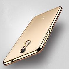 Silikon Hülle Handyhülle Rahmen Schutzhülle Durchsichtig Transparent Matt für Xiaomi Redmi Note 4 Gold