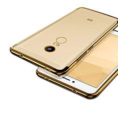 Silikon Hülle Handyhülle Rahmen Schutzhülle Durchsichtig Transparent Matt für Xiaomi Redmi Note 4 Standard Edition Gold