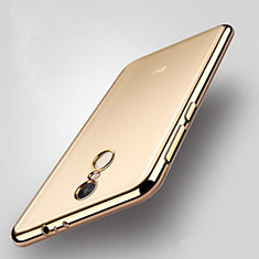 Silikon Hülle Handyhülle Rahmen Schutzhülle Durchsichtig Transparent Matt für Xiaomi Redmi Note 4X High Edition Gold