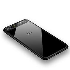 Silikon Hülle Handyhülle Rahmen Schutzhülle Durchsichtig Transparent Spiegel 360 Grad für OnePlus 5 Schwarz