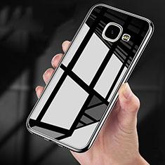 Silikon Hülle Handyhülle Rahmen Schutzhülle Durchsichtig Transparent Spiegel 360 Grad für Samsung Galaxy A9 (2016) A9000 Schwarz