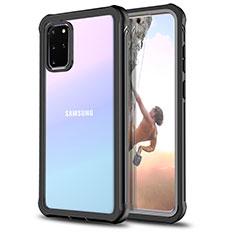 Silikon Hülle Handyhülle Rahmen Schutzhülle Durchsichtig Transparent Spiegel 360 Grad für Samsung Galaxy S20 Plus Schwarz