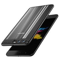 Silikon Hülle Handyhülle Rahmen Schutzhülle Durchsichtig Transparent Spiegel 360 Grad T02 für Huawei Honor 9 Schwarz