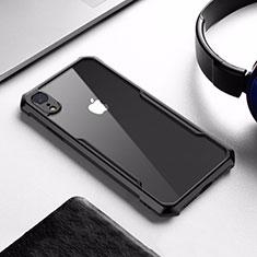 Silikon Hülle Handyhülle Rahmen Schutzhülle Durchsichtig Transparent Spiegel für Apple iPhone XR Schwarz