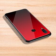 Silikon Hülle Handyhülle Rahmen Schutzhülle Durchsichtig Transparent Spiegel für Xiaomi Mi Play 4G Rot