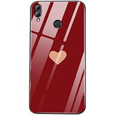 Silikon Hülle Handyhülle Rahmen Schutzhülle Spiegel Liebe Herz S04 für Huawei Honor 8X Rot