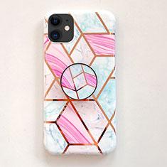 Silikon Hülle Handyhülle Rahmen Schutzhülle Spiegel Modisch Muster für Apple iPhone 11 Rosa