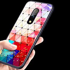 Silikon Hülle Handyhülle Rahmen Schutzhülle Spiegel Modisch Muster für Oppo Realme X Bunt