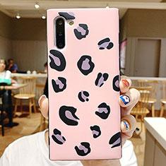 Silikon Hülle Handyhülle Rahmen Schutzhülle Spiegel Modisch Muster P01 für Samsung Galaxy Note 10 5G Rosa