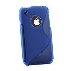 Silikon Hülle Handyhülle S-Line Schutzhülle Durchsichtig Transparent für Apple iPhone 3G 3GS Blau