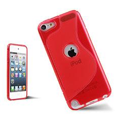 Silikon Hülle Handyhülle S-Line Schutzhülle Durchsichtig Transparent für Apple iPod Touch 5 Rot