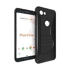 Silikon Hülle Handyhülle S-Line Schutzhülle Durchsichtig Transparent für Google Pixel 3a XL Schwarz