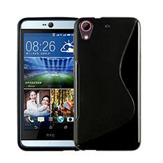 Silikon Hülle Handyhülle S-Line Schutzhülle Durchsichtig Transparent für HTC Desire 626 Schwarz