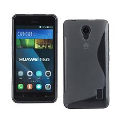 Silikon Hülle Handyhülle S-Line Schutzhülle Durchsichtig Transparent für Huawei Ascend Y635 Grau