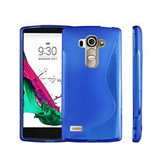 Silikon Hülle Handyhülle S-Line Schutzhülle Durchsichtig Transparent für LG G4 Beat Blau