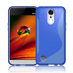 Silikon Hülle Handyhülle S-Line Schutzhülle Durchsichtig Transparent für LG K10 (2017) Blau