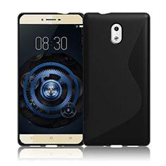 Silikon Hülle Handyhülle S-Line Schutzhülle Durchsichtig Transparent für Nokia 3 Schwarz
