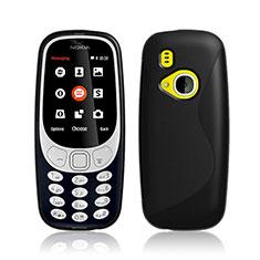 Silikon Hülle Handyhülle S-Line Schutzhülle Durchsichtig Transparent für Nokia 3310 (2017) Schwarz
