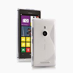 Silikon Hülle Handyhülle S-Line Schutzhülle Durchsichtig Transparent für Nokia Lumia 925 Weiß