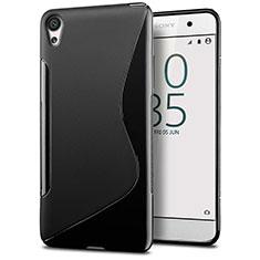Silikon Hülle Handyhülle S-Line Schutzhülle Durchsichtig Transparent für Sony Xperia E5 Schwarz