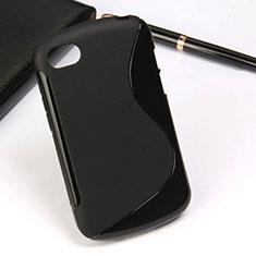 Silikon Hülle Handyhülle S-Line Schutzhülle für Blackberry Q10 Schwarz