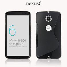 Silikon Hülle Handyhülle S-Line Schutzhülle für Google Nexus 6 Schwarz