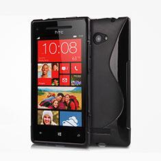 Silikon Hülle Handyhülle S-Line Schutzhülle für HTC 8X Windows Phone Schwarz
