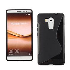 Silikon Hülle Handyhülle S-Line Schutzhülle für Huawei Mate 8 Schwarz