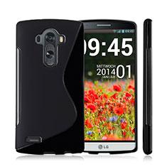 Silikon Hülle Handyhülle S-Line Schutzhülle für LG G4 Schwarz