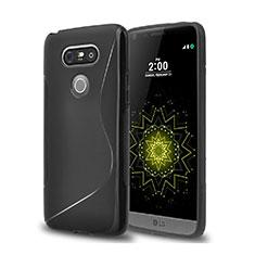 Silikon Hülle Handyhülle S-Line Schutzhülle für LG G5 Schwarz