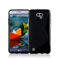 Silikon Hülle Handyhülle S-Line Schutzhülle für LG X Cam Schwarz